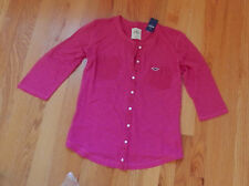 NWT Hollister Wheeler Springs Knit Top 3/4 Sleeve Medium Pink by Abercrombie