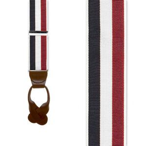 Striped Grosgrain Suspenders
