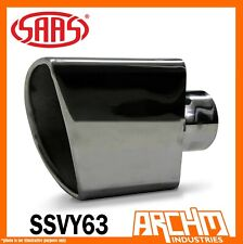 SAAS STAINLESS STEEL EXHAUST TIP VY V6 & V8 ANGLE 63MM COMMODORE HOLDEN SSVY63