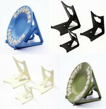 2 x Black, Ivory, Wedgwood Blue or Green : Clip Display Stands : Plate, Jasper