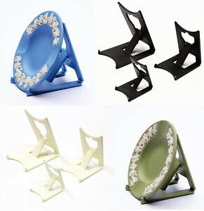 2 x Black, Ivory, Wedgwood Blue or Green : Clip Display Stands : Plate, Jasper