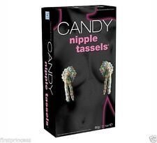 candy black cubrepezones caramelo Candy Edible Eatable Nipple Tassels Sexy gift