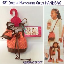"18"" Doll HANDBAG+Matching Girls PURSE Hand-Bag for Our Generation American Girl"