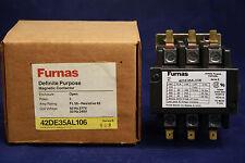 Furnas 42DE35AL106 Definite Purpose Contactor 50 63 Amp 3 Pole 240 277 Volt Coil