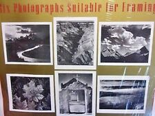 """ANSEL ADAMS 'Six Photographs Suitable for Framing' 11"""" x 14"""" National Parks NICE"""