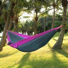 Hamac de Jardin Grand lit Suspendu Camping RandonnéeTerrasse Hammock Printemps
