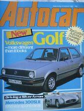 AUTOCAR 83/08/13 VW GOLF PEUGEOT 305 VAUXHALL ASTRA MATRA MURENA MERCEDES 300SLR