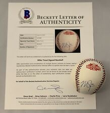 MIKE TROUT SIGNED 2015 ALL STAR BASEBALL LOS ANGELES ANGELS ANAHEIM AUTO+BECKETT