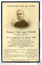 PHOTO FAIRE-PART curé prêtre abbé Louis Poirier . Allonnes