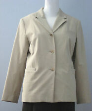 BRAEMAR PETITES Size 12 Beige Fully Lined Blazer (Made in Canada)