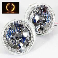 "1963-1978 Chevy Nova 7"" Round 6014/6015/6024 Chrome Diamond Headlights Amber ..."