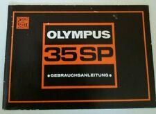 Original Bedienungsanleitung für Olympus 35SP Gebrauchsanleitung Manual top