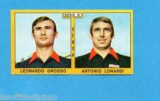 PANINI CALCIATORI 1969/70-Figurina- GROSSO+LONARDI - GENOA -Recuperata