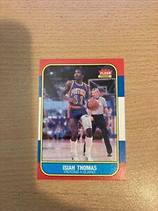 Isiah Thomas RC 1986-87 Fleer Basketball ROOKIE Card #109 Detroit Pistons HOF