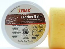 CERAX Leather Balm conditions and protects Handbags, Shoes, Clothes, Furniture..