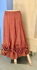 Red Check Prairie Skirt by B. Hadikusumo - Size S