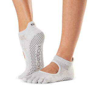 TOESOX BELLARINA FULL TOE 'CIAO' YOGA/ PILATES/ DANCE/ GRIP SOCKS- MEDIUM
