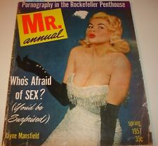 MR. ANNUAL Spring 1957~BETTY PAGE~LILY St. CYR~Vintage Men's Pin-Up Magazine~B&W