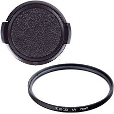 77mm UV filter +Cap For Sony Nikon Canon Pentax EF 24-70mm 24-105mm DSLR Cameras
