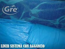 LINER PVC RICAMBIO PISCINA GRE A OTTO CM 640 X 390 X 120 H CM AZZURRO AGGANCIO