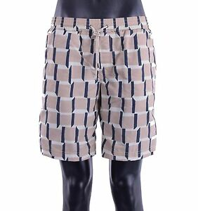 Dolce & Gabbana Beachwear Swim Trunks Boxer with Logo Pendant Braun Shorts 05379