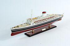 "SS Leonardo da Vinci Black Hull Italian Line Ocean Liner Wooden Ship Model 34"""