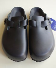 new BIRKENSTOCK Leather Slides Clogs Mules BOSTON EXQ black US9 EU40 UK7 Narrow
