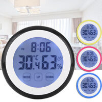 CA Wall Clock Digital Humidity Timer Thermometer Alarm Clocks For Bedroom LCD