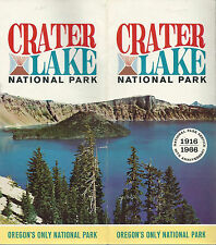 Crater Lake National Park Oregon Crater Lake Lodge Vintage 1966 Travel Brochure