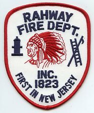 RAHWAY NEW JERSEY NJ First In New Jersey Indian FIRE PATCH
