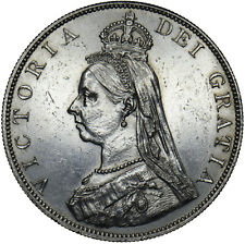 More details for 1887 double florin - victoria british silver coin - nice