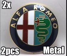 2x Alfa Romeo METAL Classic Emblems Badge 74mm 147 156 GT 159 Brera Mito
