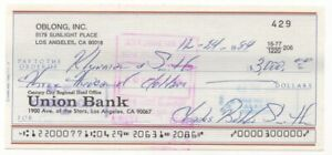 Bubba Smith - Football Legend & Hightower from Police Academy Autographed Check