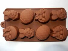 8 Hole Easter Egg Bunny Basket Chocolate Mould Modeling Tools Icing Soap Cake