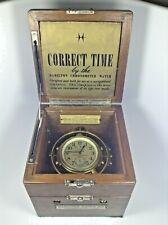 Hamilton Model 22 U.S. Navy Bu Ships - 1943 Marine Chronometer - Running