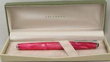 Levenger True Writer Pink & Chrome Fountain Pen - Fine Nib - New