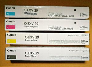 Canon C-EXV 29 complete set of toners