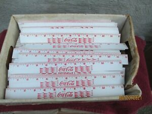 Lot of 90 Vintage Coca-Cola Wood Rulers