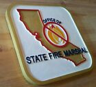 Fire Department California Fire Marshal 3D routed wood patch plaque Custom