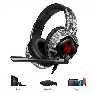 UK RGB Gaming Headset for PS4 Xbox one Computer Mic LED Lighs Noise Cancelling