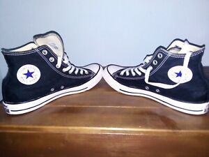 Scarpe uomo Converse all star  sneakers alte platform nere chuck taylor
