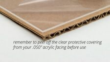 "New Clear Acrylic Plexiglass .050"" 1/16"" Sheet 18"" X 24"""