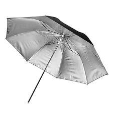 Silver Reflective Umbrella 100cm - Photography Studio Flash Diffuser Bounce Hard
