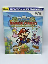 Official Nintendo Power Super Paper Mario Player's Guide Nintendo Wii