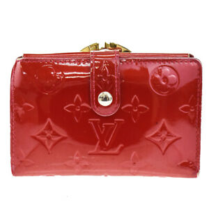 Auth LOUIS VUITTON Viennois Bifold Wallet Monogram Vernis Leather M93528 01JC767