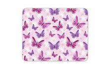 Purple Pink Butterflies Mouse Mat Pad - Mum Sister Auntie Gift Computer #13090