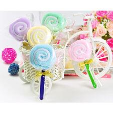 New Cute MINI Lollipop Baby Washcloth Towel Wedding Favor Xmas Gift Randomly