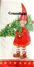 "Package of 10 Decoupage 4-ply 8.25""sq Tissue Napkins - Smiley Christmas Kids"