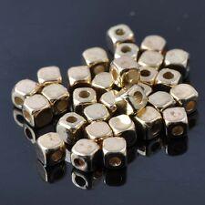 Lot 40 Perle Cube 4mm Doré Acrylique perle intercalaire creation bijoux