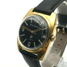 Rectangle Gold Plated Komandirskie Military VOSTOK Wristwatch MO Date Formal Men